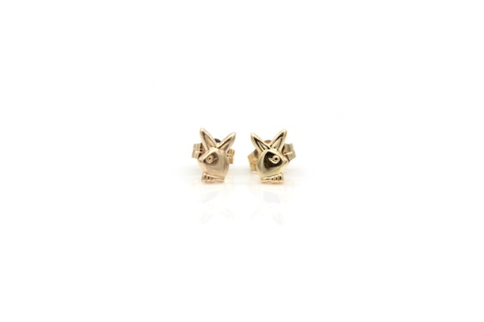 gold-bunny-studs
