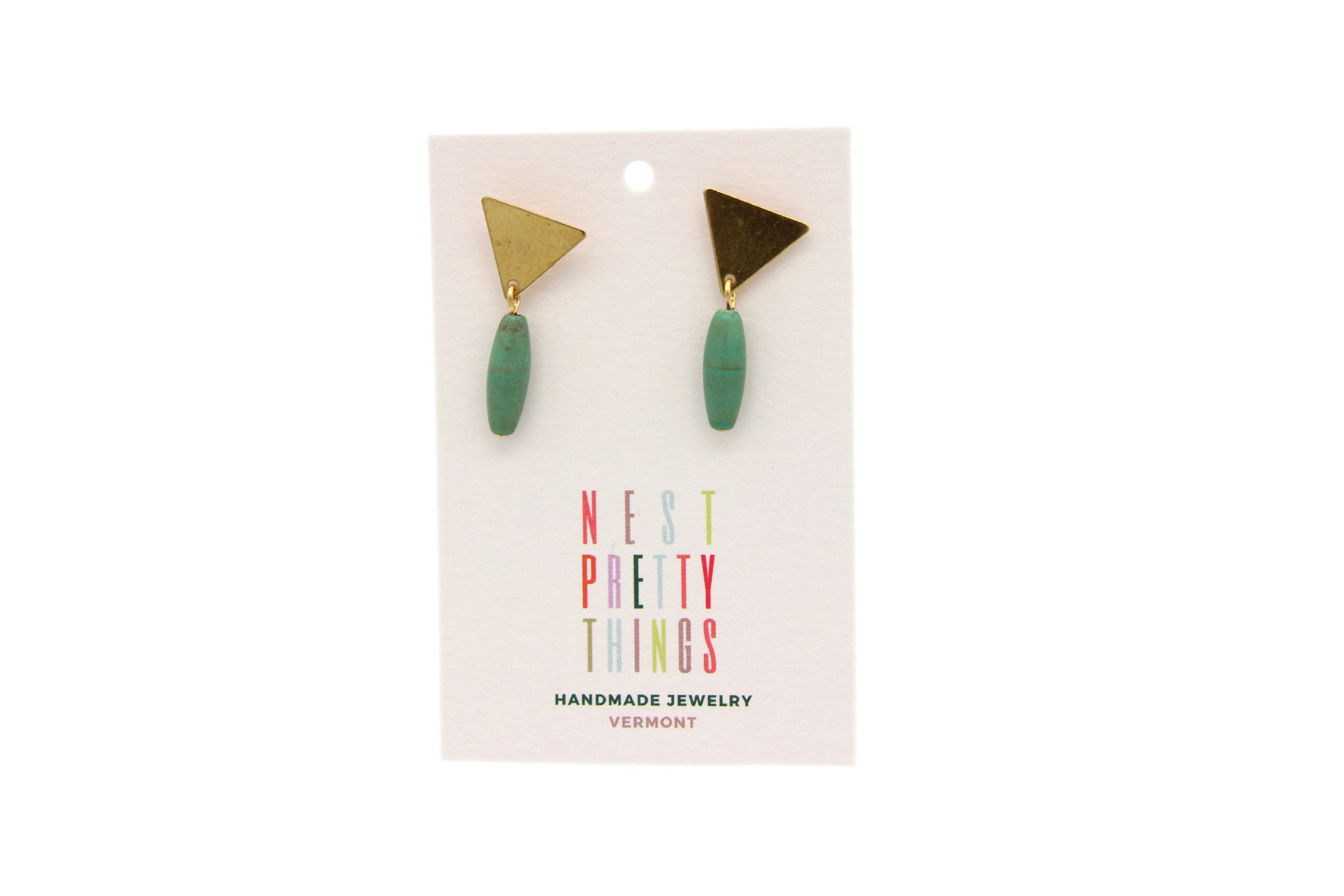Little Triangles with Turquoise Magnesite studs